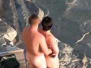 Couple ukrainien fait le sexe à la plage